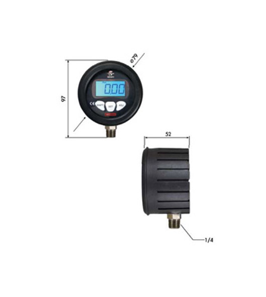 2.5 Inch Digital Pressure Gauges