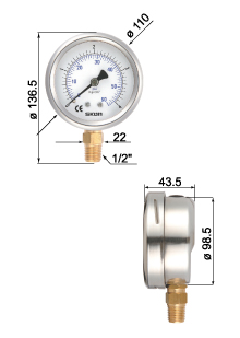 Filled Bourdon Tube Pressure Gauges